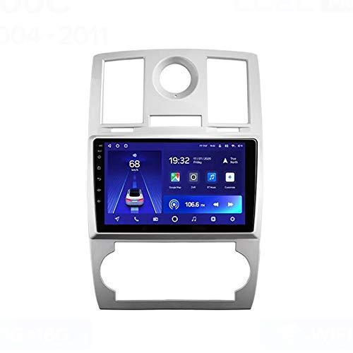 MGYQ 2 DIN Radio Coche Reproductor Multimedia Apoyo BT/Navegación De Google/FM/1080P Video/Aux Entrada/Radio MP5 Player, para Chrysler 300C 2004-2011 con Cámara Visión Trasera,Quad Core,WiFi 1+32