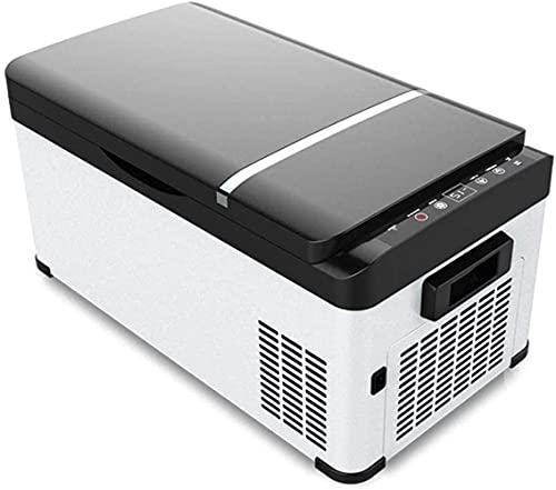 Refrigerador pequeño,Mini refrigerador, refrigerador de automóvil Compresor de Doble Uso para el hogar Camión refrigerado Mini Camión refrigerado pequeño refrigerador Congelador pequeño Duradero