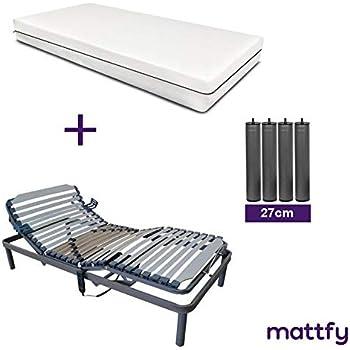 MATTFY Pack Cama ARTICULADA Reforzada 5 Planos + COLCHÓN VISCOELÁSTICO Martina (80X190). Fabricado EN ESPAÑA.: Amazon.es: Juguetes y juegos
