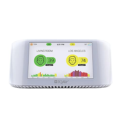 IQAir [AirVisual Pro Air Quality Monitor] Monitor Indoor Air Quality...
