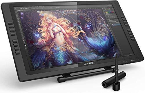 XP-PEN Artist 22E Pro HD Grafikmonitor IPS Drawing Tablet 8192 Druckstufen Grafiktablett unterstützt 4k Monitore (22E Pro, Schwarz)