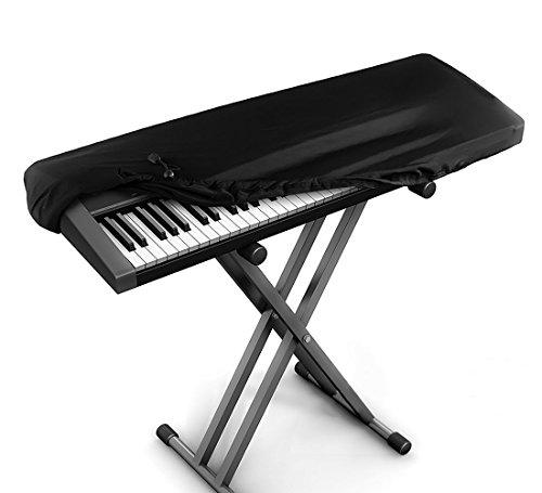 JamBer Abdeckung für klaviertastatur,piano tastatur staubschutz für 88 tasten tastatur,Schwarz