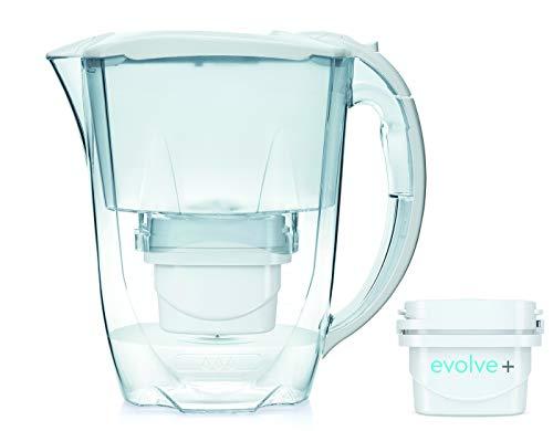 Aqua Optima Oria Jarra de agua Liscia + 1 filtro Evolve de 30 días. 1 pack mensual, blanco, 2,5 litros, 122x256x266