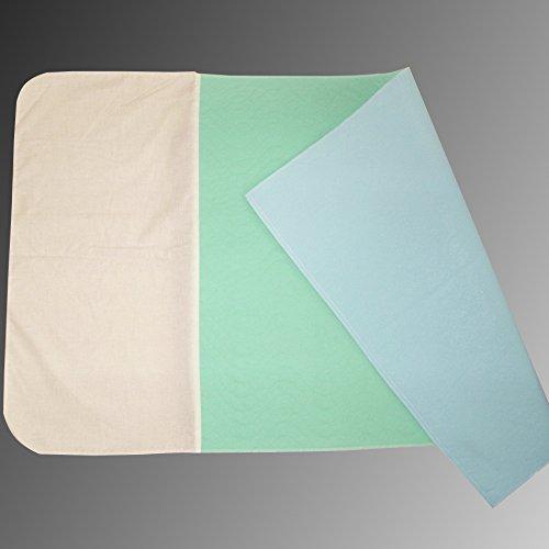 CA332/FL 4er PACK Inkontinenzunterlagen, Inkontinenzauflagen mit Flügel Farbe: blau/grün oder weiß/blau Matratzenschutz, Pflege, Inkontinenz, Hygieneauflage Castejo
