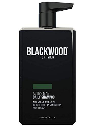 Blackwood For Men Active Man Daily Shampoo for Oily Hair or Scalp Thinning Hair or Hair Loss Premium Pump 8.92 Oz Paraben-Free