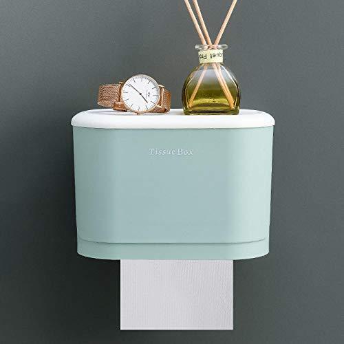 Toilettenpapierhalter,Klopapierhalter für Badezimmer -Grün (Trompete)