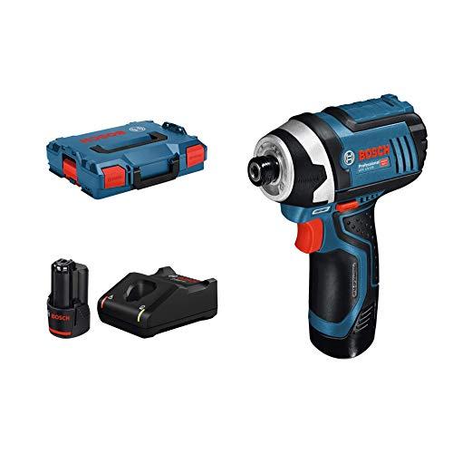 Bosch Professional 12v In L-Boxx met 2 x 2,0 Ah accu. zwart, blauw