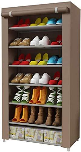 A-Generic Shoemaker con 7 Niveles, con Estuche de Tela no Tejida, Resistente al Polvo, 60 x 30 x 125 cm (color1)-Color3
