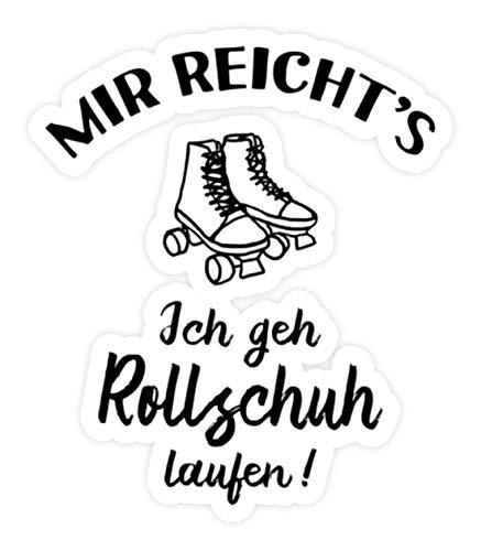 shirt-o-magic Aufkleber Rollerskates: Ich geh Rollschuh laufen! - Sticker - 5x5cm - Weiß