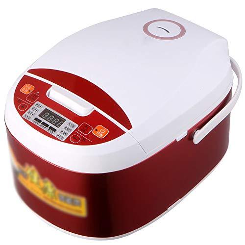 CQL rijstkoker voor thuis, 5 liter, grote capaciteit, automatische rijstkoker, precisie, afneembare, wasbare afdekking, zwart, kristal, honingraatinlegger geschikt voor in de keuken