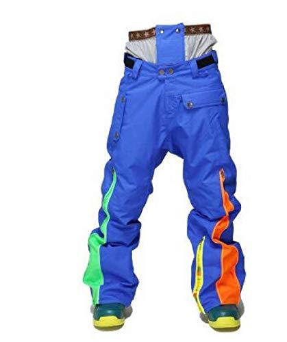 AXIANNV Pantaloni da Sci da Uomo Invernali da Sci da tavola Pantaloni da Sci da Uomo Impermeabili Caldi, color8, M