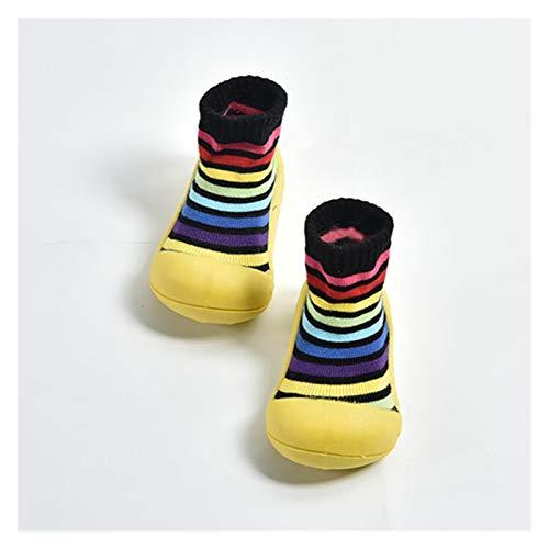 Youpin Babyschuhe für Jungen und Mädchen, Gummi-Sneaker, Baumwolle, weiche rutschfeste Sohle, für Neugeborene, Kleinkinder, für den Außenbereich, Kinderbett (Alter: 12 bis 18 Monate, Farbe: 3)