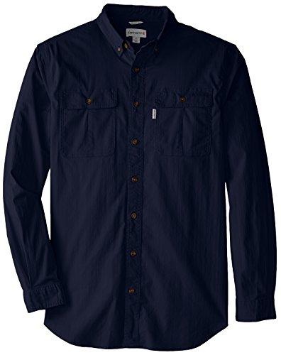 Carhartt Men's Big & Tall Long Sleeve Solid Work Shirt,Navy,5X-Large