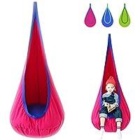 Harrage 100% Cotton Kids Swing Hammock Pod Chair (Red)