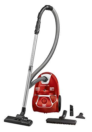 Rowenta RO3953EA Compact Power Bodenstaubsauger (Staubbehältervolumen: 3 Liter, Maximale Leistung: 2000 Watt) rot