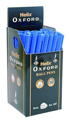Helix PB1025 Oxford - Bolígrafos (50 unidades), color azul