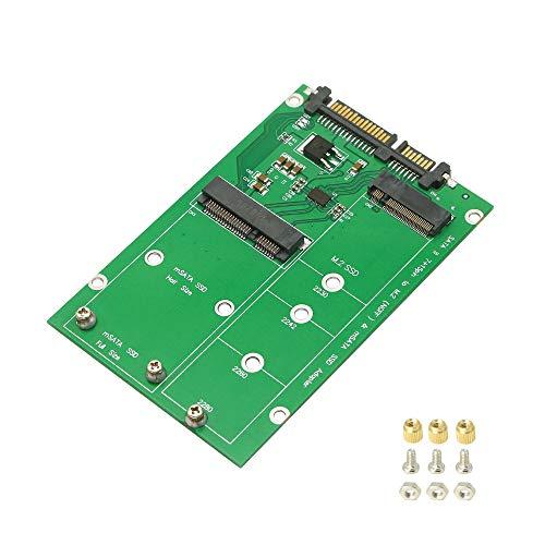 CERRXIAN SATA III 7 15-pin auf M.2 (NGFF) & mSATA SSD Adapter 2 in 1 NGFF oder mSATA SSD auf SATA, M.2 und mSATA SSD auf SATA Adapter