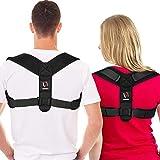 Posture Corrector for Men and Women - Comfortable Upper Back Brace, Adjustable Back Straightener Support for Neck, Back & Shoulder