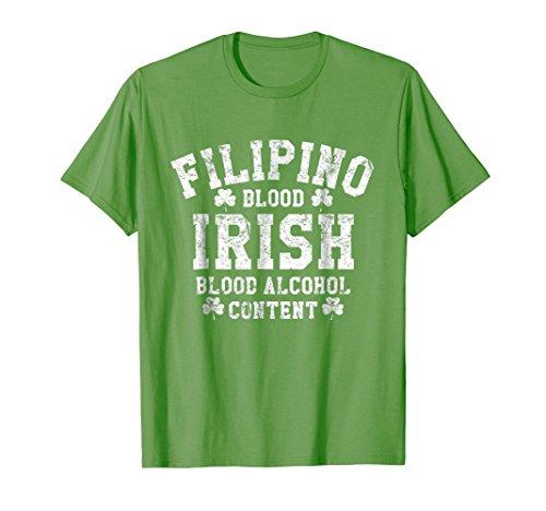 Filipino Blood Irish Blood Alcohol Content Funny T-Shirt