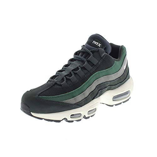 Nike Mens Air Max 95 Essential Outdoor Green Sail Trainers - Outdoor Green / Sail, UK 6