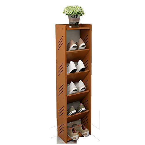 Bota de almacenamiento de zapatos para zapatos 6 niveles apilables y duraderos almacenamiento de zapatos 5 pares de zapatos de madera torre ahorro de espacio para zapatos organizador para el armario o