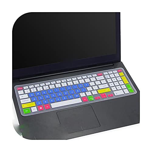 Silcione - Protector para teclado portátil de 15,6 pulgadas para Dell Inspiron 15 3567 3593 5570 5577 5767 7559 7567 7577 3000 5000 Series-candyblue