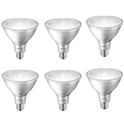 Philips LED Indoor/Outdoor Dimmable PAR38 25-Degree Classic Glass Spot Light Bulb: 1200-Lumen, 4000-Kelvin, 16-Watt (120-Watt Equivalent), E26 Base, Cool White, 6-Pack