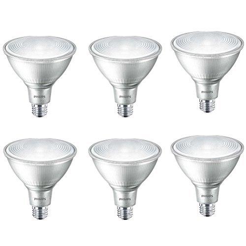 Philips LED Indoor/Outdoor Dimmable PAR38 25-Degree Classic Glass Flood Light Bulb: 1200-Lumen, 4000-Kelvin, 16-Watt (120-Watt Equivalent), E26 Base, Cool White, 6-Pack