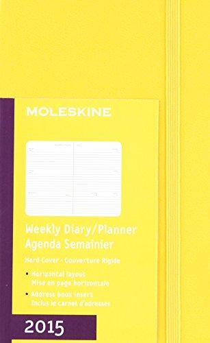 Moleskine Orange Yellow Horizontal Pocket 2015 Weekly Diary / Planner