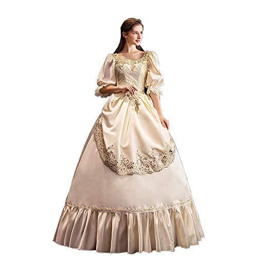 Viktorianisches Rokoko Inspiration Maiden Kostüm Barock Marie Antoinette 18. Jahrhundert Kleid - - X-Large