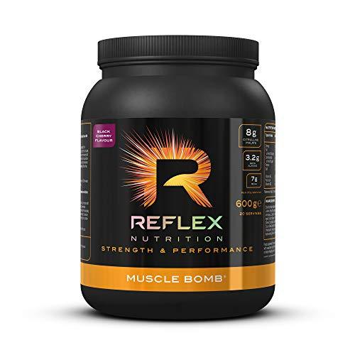 Reflex Nutrition Muscle Bomb Caffeine Ultimate PRE-Workout Powder 7g BCAA's 2g L-Carnitine 3.2g Beta-Alanine (600g) (Black Cherry)