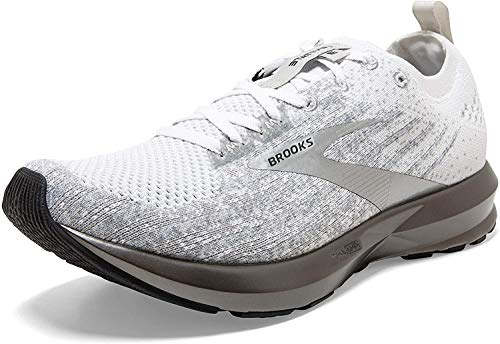 Brooks Mens Levitate 3 Running Shoe - White/Grey/Silver - D - 7.0