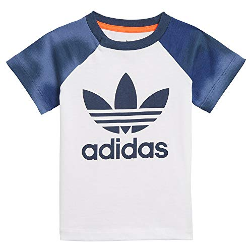 adidas GN4110 Short tee Set Sport Set Baby-Boys Top:White/Crew Blue/App Solar Red Bottom:Crew Blue s21/white/app Solar Red 0-3M 🔥