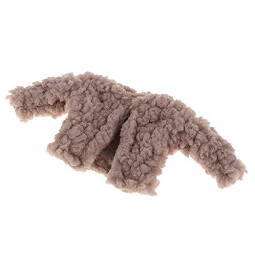 Perfeclan Winter Bekleidung für 1/6 Blythe Puppe - Kragenlose Plüsch Mantel Kurzmantel Wintermantel - 1 Stück - Khaki