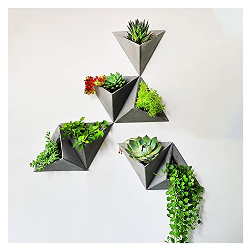 DAGCOT Cemento montado en la Pared Maceta de la Oficina de la Oficina de la Oficina de la Oficina de la Oficina de la Pared decoración Interior triángulo Retro Flor Disponer contenedor plantador
