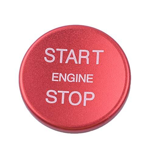 CITALL Arrêt de démarrage du moteur Interrupteur d'allumage Bouton poussoir Garniture de couvercle décoratif Rouge