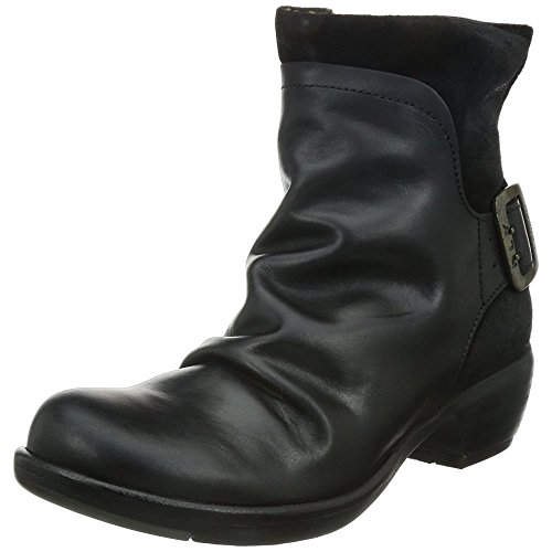 FLY London Mel P141633, Damen Biker Boots, Schwarz (BLACK 003), 40 EU (7 UK)