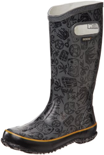 Hot Sale Bogs Pirate Waterproof Boot (Toddler/Little Kid/Big Kid),Grey,5 M US Big Kid