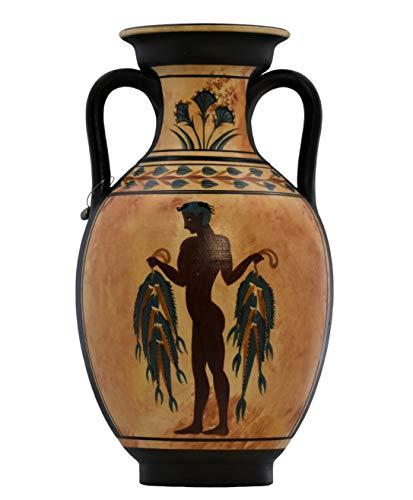 Fisherman and Boxer Fresco Akrotiri - Jarrón de cerámica griega antigua