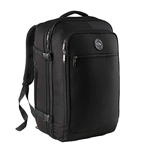CX Luggage - Equipaje de Cabina Expandible de 55 x 40 x 20 cm a 55 x 40 x 25 cm - ¡Bolsa de Mano Mayoría de Las Aerolíneas Principales! (Negro)