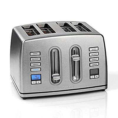 Cuisinart CPT445U 4-Slice Brushed Stainless Steel Digital Toaster
