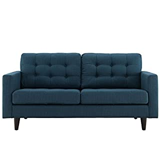 Modway Empress Mid-Century Modern Upholstered Fabric Loveseat In Granite (B00S59MG6Y)   Amazon price tracker / tracking, Amazon price history charts, Amazon price watches, Amazon price drop alerts