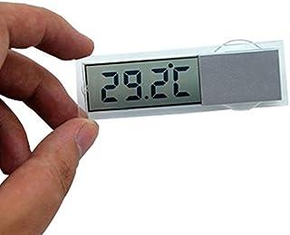 【 極 小 】 超 薄 型 デジタル 温度 計 吸盤 式 摂氏 華氏 選択 可能 電池 車 載 キッチン MI-K-036
