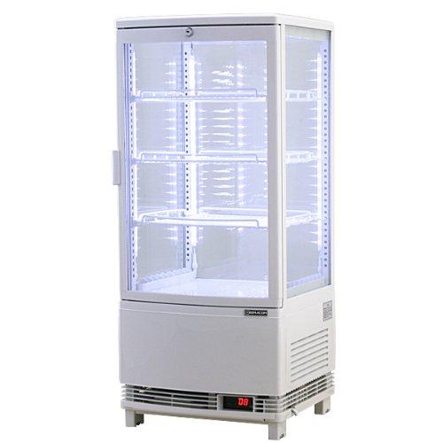レマコム 4面ガラス冷蔵ショーケース LED仕様 (84L) RCS-4G84SL