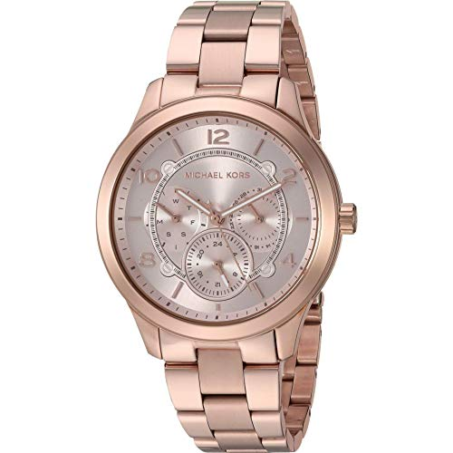 Michael Kors Analog Damen Uhr mit Edelstahl Armband MK6589