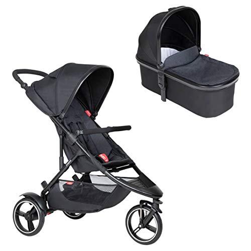 Ausstellungsstück Phil&teds Dot Buggy mit Sitzeinlage black + Babywanne (Carrycot) mit Abdeckung in der Farbe black
