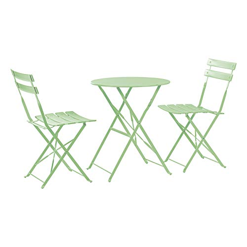 Harbour Housewares 2 Seater Sussex Bistro Set - Folding Table Chairs...