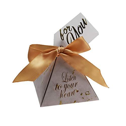 AOSUAI Favores y Regalos de Boda Triangular Caja del Caramelo de Las Cajas del Caramelo Bolsas for huéspedes Artículos de Fiesta Ducha decoración de la Boda Decorative