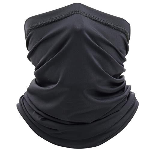 EasyULT Unisexe Tour de Cou Élastique, Cache-Cou Tubulaire Séchage Rapide Anti-Solaire Respirant Ultra-Douce pour Toutes Saisons(Noir)
