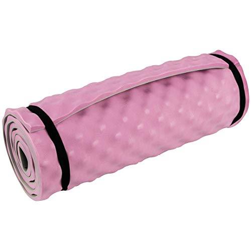 Highlander Komfortschlafmatte Leichte Schlafmatte zum Aufrollen Ideal für Camping, Festivals oder sogar Yoga Workouts (Rosa)